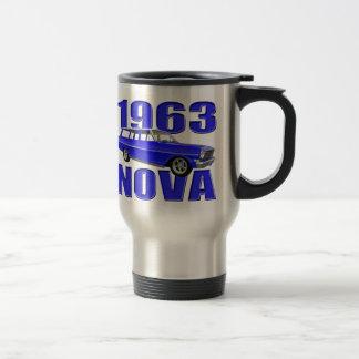1963 chevy II nova wagon longroof blue Mug