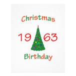 1963 Christmas Birthday Custom Flyer