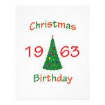 1963 Christmas Birthday Personalized Letterhead