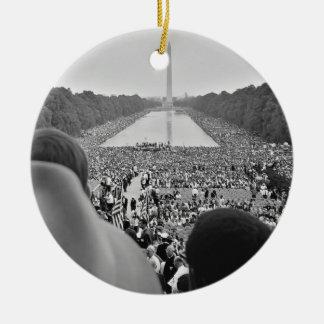 1963 Civil Rights March on Washington D.C. Ceramic Ornament