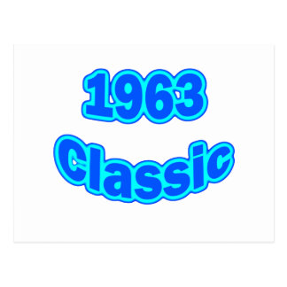 1963 Classic Blue Postcard
