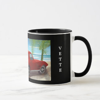 1963 Corvette Beach Scene Mug