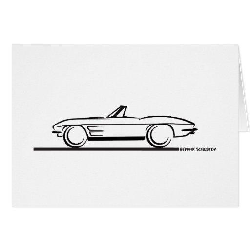 1963 Corvette Convertible Greeting Card