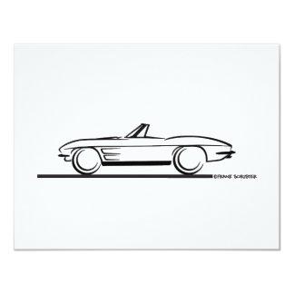 1963 Corvette Convertible 4.25x5.5 Paper Invitation Card