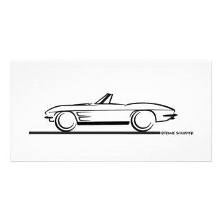 1963 Corvette Convertible Photo Card