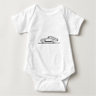 chevy baby clothes shoes zazzle 1970 Chevy Girls 1963 corvette sting ray split window coupe baby bodysuit