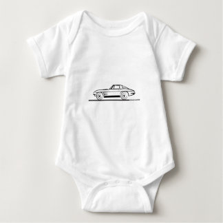 1963 Corvette Sting Ray Split Window Coupe Baby Bodysuit