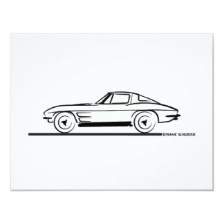 1963 Corvette Sting Ray Split Window Coupe Card
