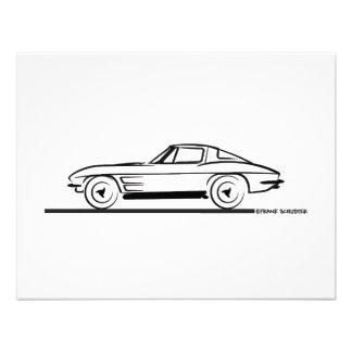 1963 Corvette Sting Ray Split Window Coupe Custom Invitations