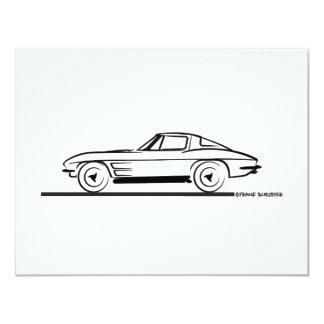 1963 Corvette Sting Ray Split Window Coupe 4.25x5.5 Paper Invitation Card