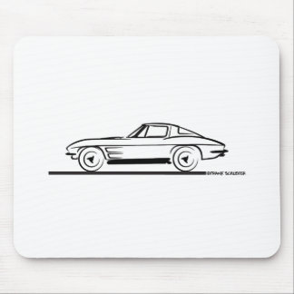 1963 Corvette Sting Ray Split Window Coupe Mouse Pads