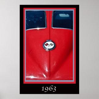 1963 Corvette Sting Ray Split Window Poster
