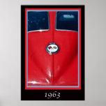 1963, corvette, sting ray, split window, poster,