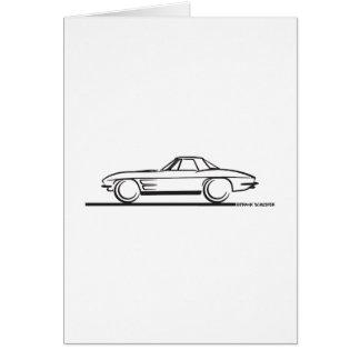 1963 Corvette Stingray Hardtop Card