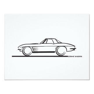 1963 Corvette Stingray Hardtop 4.25x5.5 Paper Invitation Card