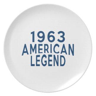 1963 diseños del cumpleaños de la leyenda del plato de cena