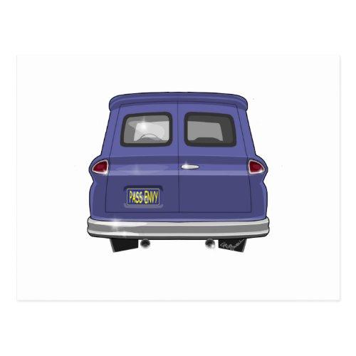 1963 GMC Chevy Panel Truck Postcard
