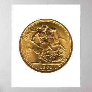 1963 Gold Sovereign Poster
