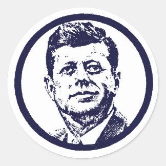 1963 JFK ETIQUETA REDONDA