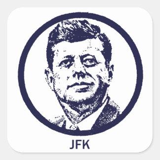 1963 JFK PEGATINA CUADRADAS PERSONALIZADA