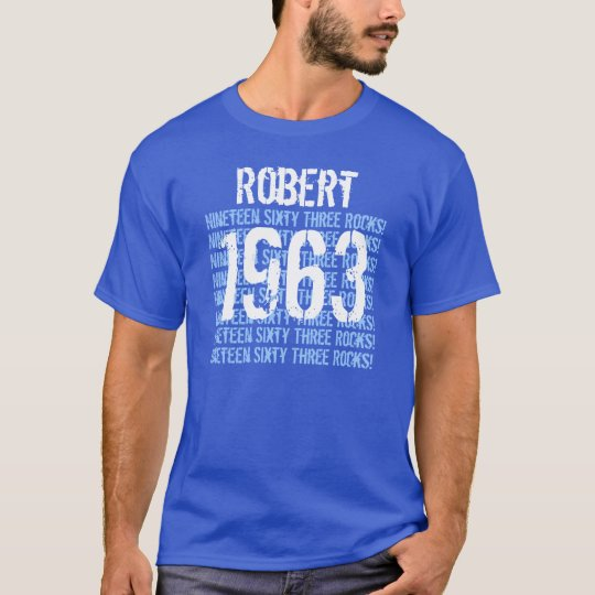 1963 or Any Year 50th Birthday Gift Royal T-Shirt