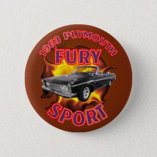 1963 Plymouth Fury Sport Button. Pinback Button
