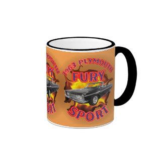1963 Plymouth Fury Sport Mug. Ringer Coffee Mug