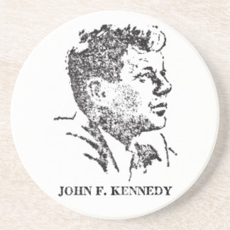 1963 profile of John F. Kennedy Beverage Coasters