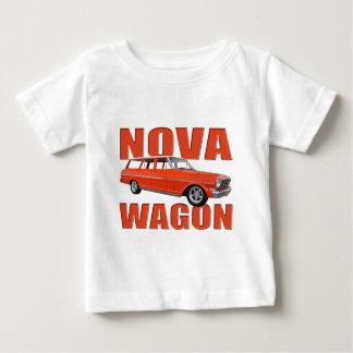 1963 red chevy II nova wagon longroof Baby T-Shirt