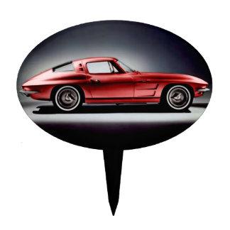 1963 Red Corvette Sting Ray Cake Topper