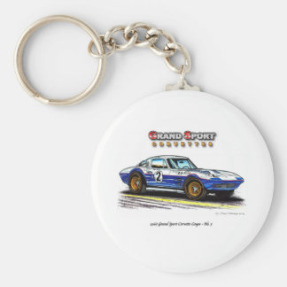 1963 Roger Penske Coupe racing Grand Sport Keychain