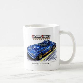 1963 Roger Penske Grand Sport Corvette Roadster Classic White Coffee Mug