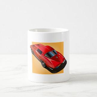 1963 Split Window Red Yellow Box Classic White Coffee Mug