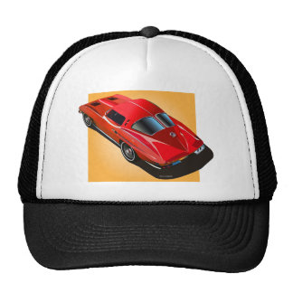 1963 Split Window Red Yellow Box Trucker Hat