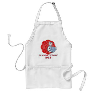 1963 The Year of the Rabbit Gifts Adult Apron