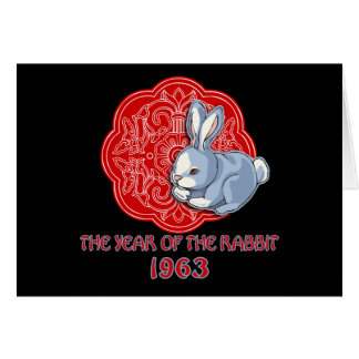 1963 The Year of the Rabbit Gifts Greeting Card