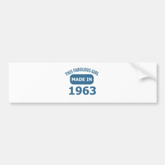 1963 year fabulous designs bumper sticker