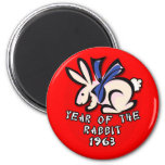 1963 Year of the Rabbit Apparel and Gifts Refrigerator Magnet
