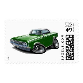 1964-65 Cutlass Green-White Car Stamp