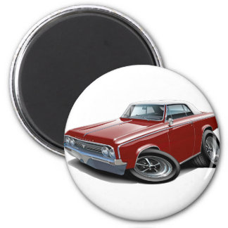 1964-65 Cutlass Maroon-White Car Magnet