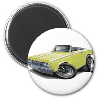 1964-65 Cutlass Pale Yellow Convertible 2 Inch Round Magnet