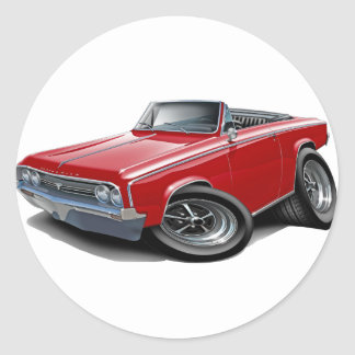1964-65 Cutlass Red Convertible Classic Round Sticker