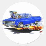 1964-65 El Camino Blue Truck Round Sticker