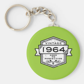 1964 Aged To Perfection Basic Round Button Keychain
