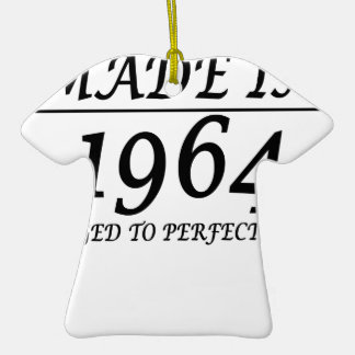 1964 Aged to perfection t shirt for 50th Birthday. Ornament