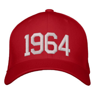1964 años gorras bordadas