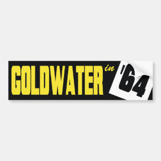 1964 Barry Goldwater Vintage Bumper Sticker Car Bumper Sticker