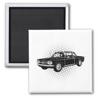 1964 Chevrolet Corvair 2 Inch Square Magnet