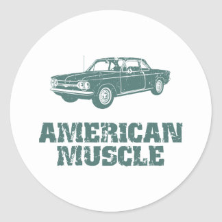 1964 Chevrolet Corvair Round Stickers