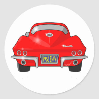 1964 Chevrolet Corvette Stingray Classic Round Sticker